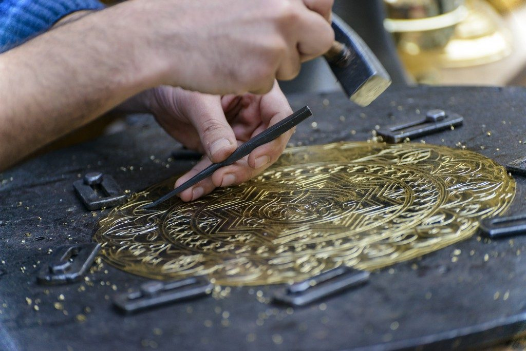 Engraving Brass Plate Masterpiece