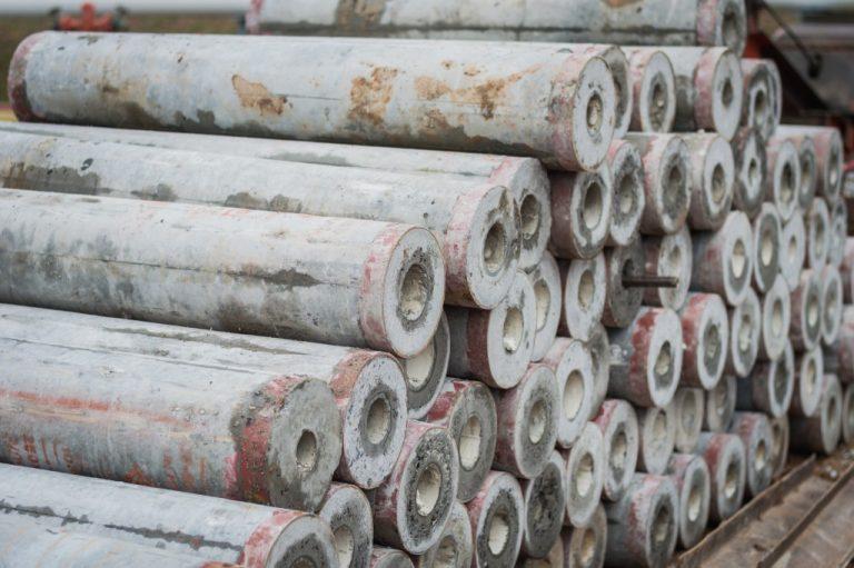 tubular concrete piles