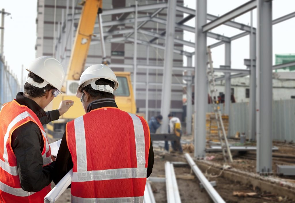 men in the construction site